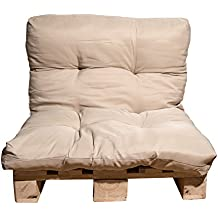 Kissen für Palettenmöbel | sehr bequem | wasserabweisend | Rückenkissen | Sitzpolster | Sitzkissen | Polsterkissen | Gartenmöbel | 120x80x15 cm