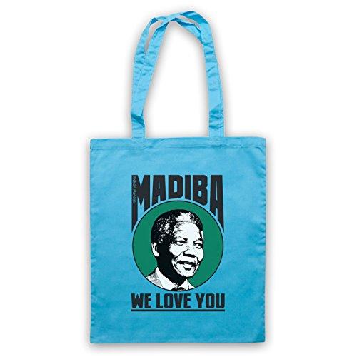 Nelson Mandela Madiba Ti Amiamo Borse Mantella Blu Chiaro