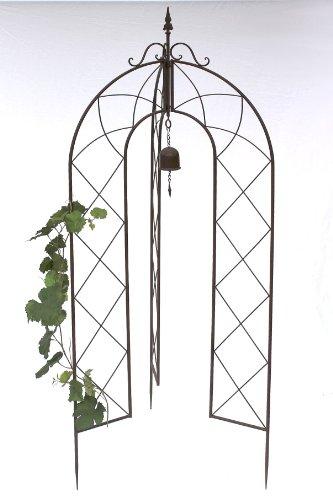 DanDiBo Support pour plantes grimpantes avec Cloche 120264 pliable Treillis H-172cm D-70cm Support pour plantes grimpantes Clôture