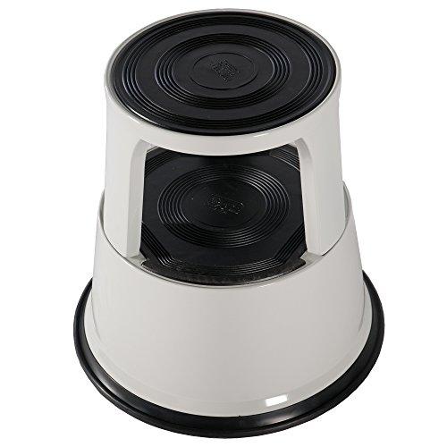 Preisvergleich Produktbild Ronco Kik Step EN14183 Idealer Tritthocker für Büros & Registratur, Strapazierfähiger Stahl 0,43 m grau