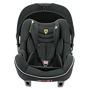 Infant Car seat FERRARI - Group 0+ (0-13kg) - Made in France - 4 stars Test ADAC - Side Protections
