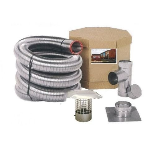 Forever Vent SW620SSK SmoothWall Double Ply Stainless Steel Chimney Liner Kit, 6-Inch x 20-Feet by Forever Vent (Forever Vent)