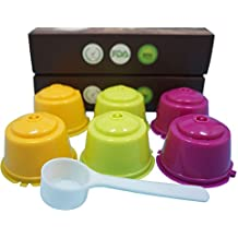 YISER 6 Pack Cápsulas Filtros de Café Recargable Colores Reutilizable para Cafetera Dolce Gusto