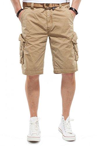 JET LAG Cargo Shorts Take off 3 Modell 16 in schwarz, olive, stone, cement, gold und camouflage, Farbe:Gold;Größe:W44