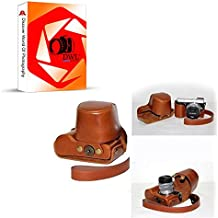 DWL de piel sintética cámara bolsa de funda protectora para Panasonic Lumix DMC-GX7, color marrón
