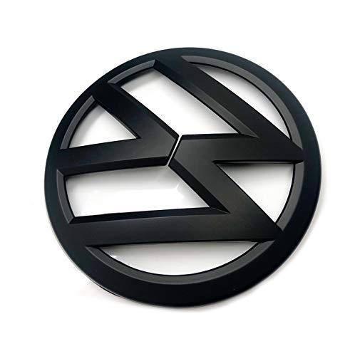 Emblem für Kühlergrill, für Golf 7 MK7 ab 2012, Größe 135 mm, Mattschwarz
