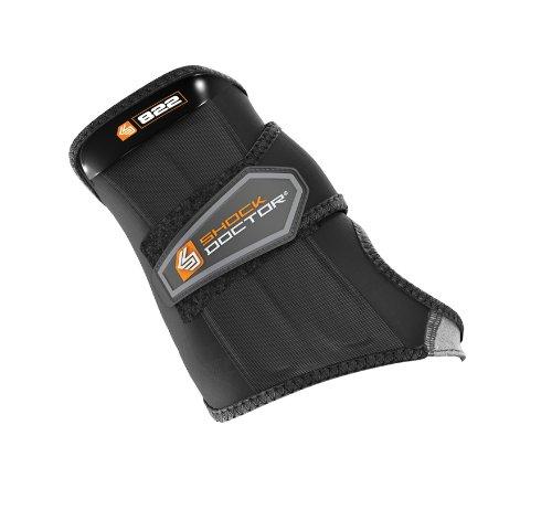 ShockDoctor Erwachsene Handgelenkschützer Handgelenkbandage mit 1 Strap Bandage, Black, L -