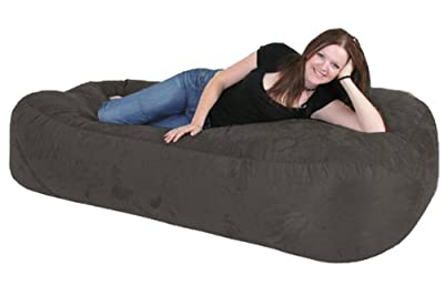6FT BEANBAG SOFA - BLACK Giant Bean bag Indoor / Outdoor