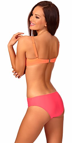 aQuarilla Damen Bikini Set Marmaris Pfirsich/Himbeere