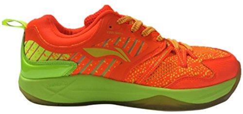 Li Ning Armor Badminton Sports Shoes, Orange/Lime