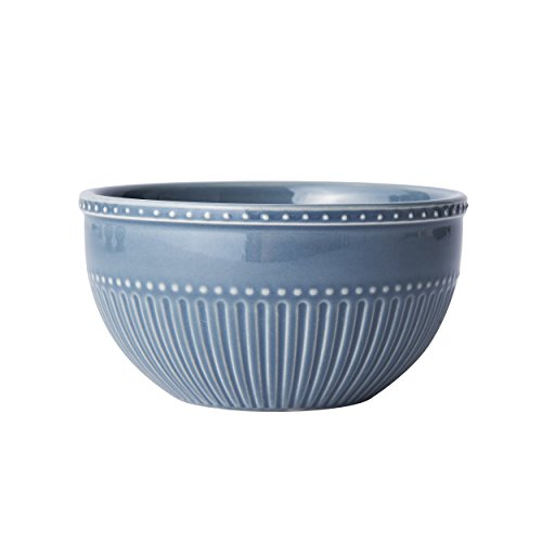 Mikasa Italian Countryside Accents Fruit Bowl, Fluted Blue - Blue Fluted