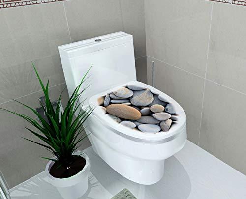 Pfanne Abdeckung Aufkleber Wc Hocker Kommode Aufkleber wohnkultur dekor 3D gedruckt blume view f3 48x58.5cm ()