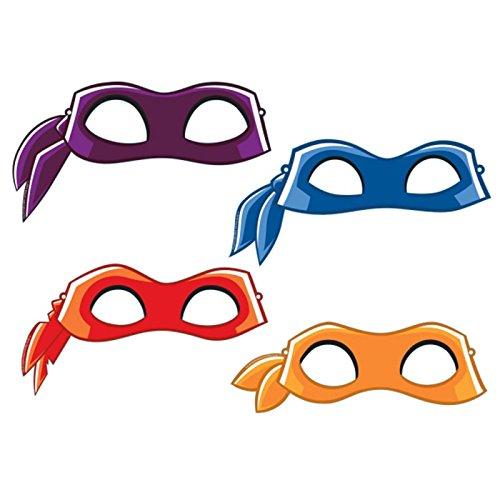 Amscan International-9901324mitad carcasa máscara de héroes