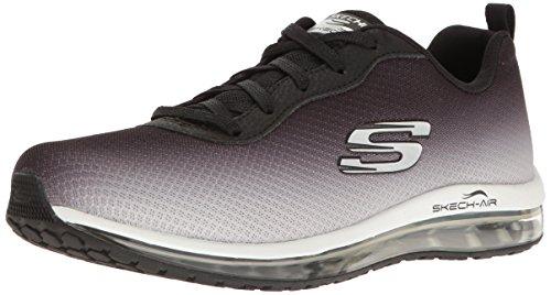 Damen Element (Skechers 12640/BKW Skech-Air Element Damen Sneaker schwarz/weiß, Größe:41, Farbe:Schwarz)