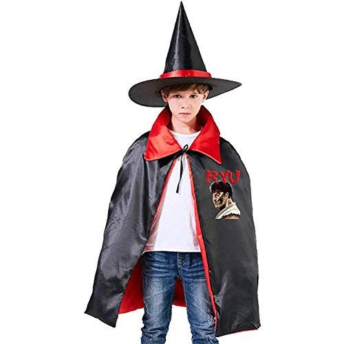 Kostüm Kinder Ryu - BYME Kinderzauberer Hexenumhang Halloween RYU Cape in voller Länge mit Hut
