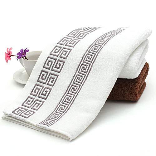 HUILIN 3 stücke 100% Baumwolle gestickte Handtuch Sets Bambus Strand badetücher für Erwachsene luxusmarke hohe qualität weiches Gesicht handtücher blau 35 * 75 cm, weiß - Handtuch-set Monogrammiert