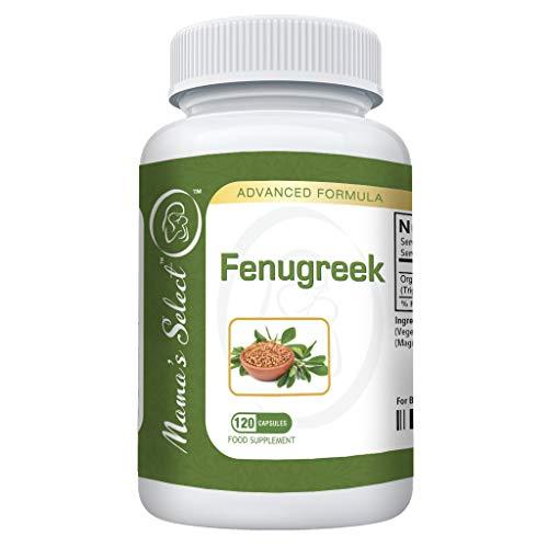 Capsules de Fenugrec permettant d'augmenter l'approvisionnement en lait durant l'allaitement et la lactation -Complément/Vitamines de Graines de Fenugrec -Mieux que le thé, l'huile et les feuilles -120 Pilules végétariennes à base de plantes