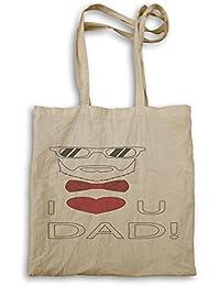 El día de padre te amo papá bigote divertido bolso de mano d570r