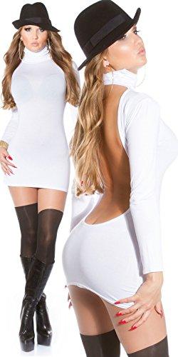 Sexy Minikleid mit Rollkragen rückenfrei!! Koucla by In-Stylefashion SKU 0000MKRF102 Weiß