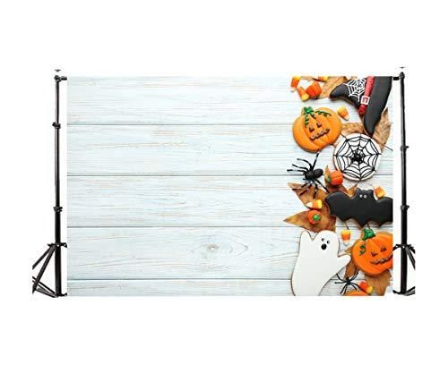 FORH Halloween Kulissen Ostern, Foto-Hintergrund, Requisite Kürbis Vinyl 3x5FT Fotostudio Video Fotografie Fotografie Studio für Portrait, Produkt Fotografie und Videoaufnahme (Kulissen Fotografie Halloween)