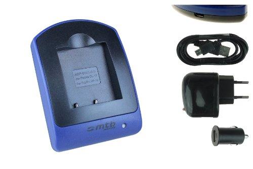 Ladegerät (USB, KFZ, Netz) für Fuji NP-40, Finepix F402 F455 F460 F470 F480 J50 V10 Z1..s. Liste