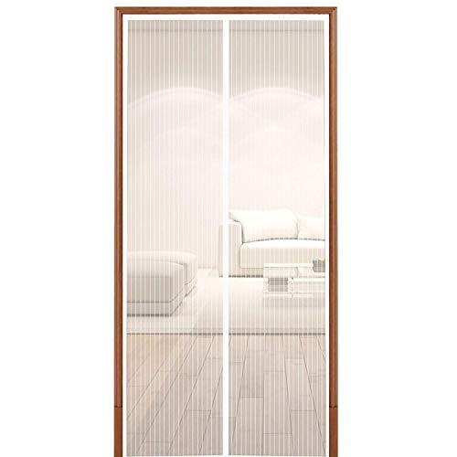 hoobest magnetisch Bildschirm door-heavy Pflicht Mesh & Full Frame Öffnungen für Türen mit Klettverschluss bis 86,4x 208,3cm White-S -