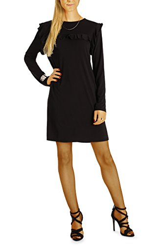Bestyledberlin Robe, Longtop femme A-shape t62z Noir