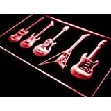 Enseigne Lumineuse s091-r Guitars Weapon Band Bar Beer Neon Light Sign