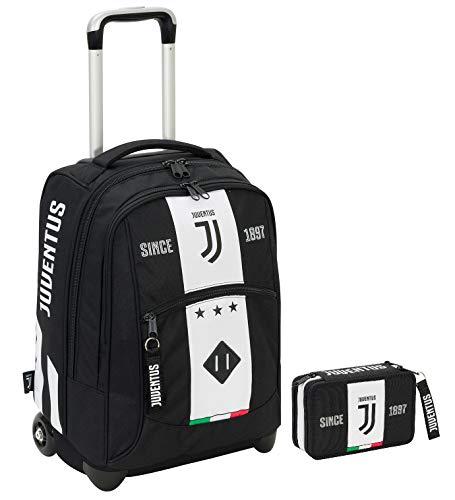 Big Trolley JUVENTUS + Astuccio attrezzato - Bianco&Nero - Gadget abbinato - 2in1 Spallacci a scomparsa!