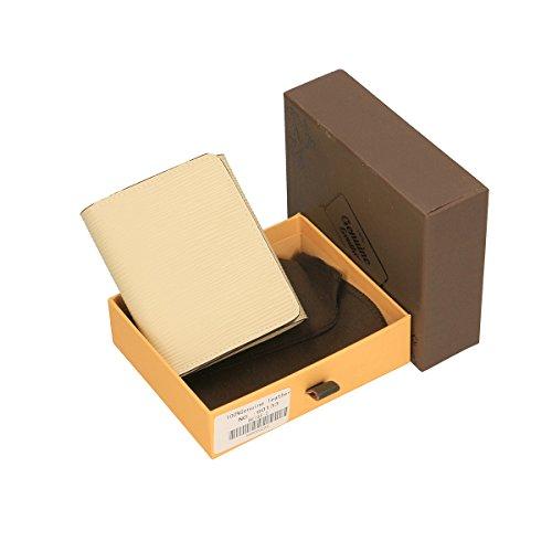Chicca Borse Portafogli in pelle 12x10x3 100% Genuine Leather Beige