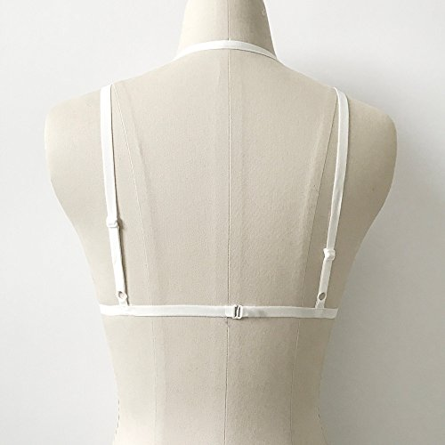 Damen Pentagramm Harness Strappy Geschirr Pentagramm Knechtschaft BH 187 Weiß