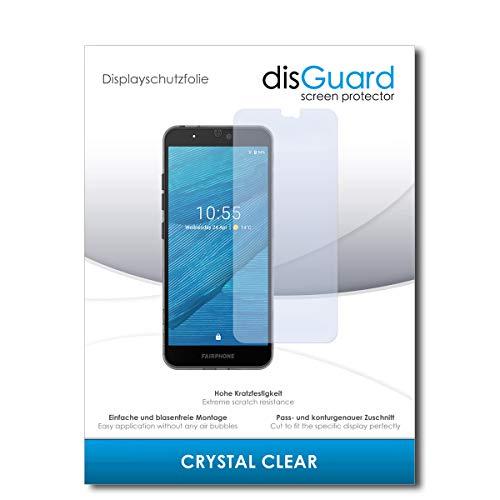 disguard pellicola protettiva [crystal clear] compatibile con fairphone fairphone 3 [2 pezzi] cristallino, transparente, invisibile, ultra resistente, effetto anti-impronte - proteggi schermo