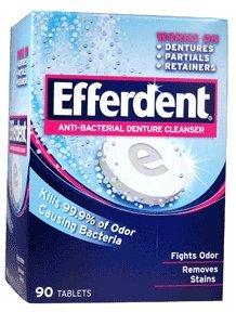 Efferdent Anti-Bakterieller Zahnprothesenreiniger 90 Stück