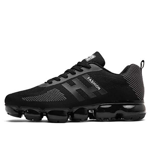 omfort Atmungsaktive Hochelastische, Verschleißfeste Laufschuhe Atmungsaktive Sneakers,Black,40 ()