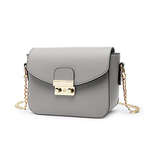 Estate mini pacchetto selvaggio, borsa a tracolla femminile coreana, zaino obliqua, borse, pacchetto catena ( Colore : Nero ) Grigio