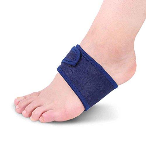 Sunlera Arch Fuß Bandage Atmungsaktiv Stoff Plattfuß Orthotics Bandage Freie Größe Blau - Komfort Stoff Bandagen