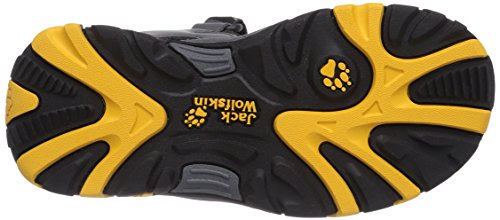 Jack Wolfskin Boys Oceanside, Sandales sport et outdoor garçon Gris - Grau (burly yellow 3800)