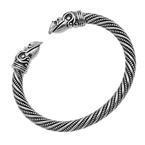 SUNSKYOO Vintage-Legierung Punk Manschette Armband Fashion Party nordischen Gotik Hand Gefertigt...