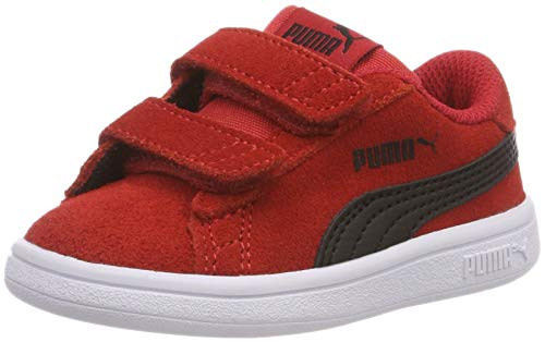 Puma Unisex Baby Smash v2 SD V Inf Sneaker Rot (Ribbon Red Black 10), 27 EU