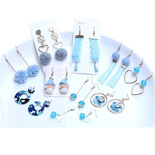 Boucle d'oreille Accessoires Kit DIY Boucles d'oreilles à la main Clip Clip Matériel (Bleu clair)