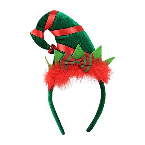 Moonuy Weihnachten Head Hoop Hot Schöne Weihnachten Stirnband Santa Xmas Party Multicolor Decor Doppel Haarband Verschluss Kopf Hoop