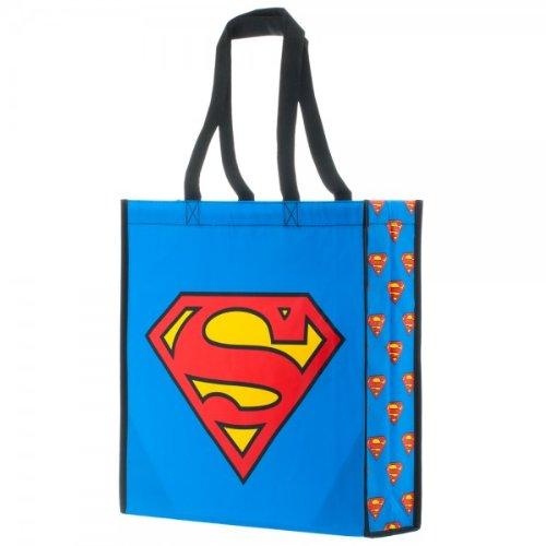 Offizielle Klassische Superman Logo Large Tote Einkaufstasche -