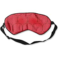 Eye Mask Eyeshade Circle Red Pattern Sleep Mask Blindfold Eyepatch Adjustable Head Strap preisvergleich bei billige-tabletten.eu