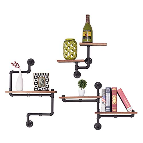 Kitchen furniture - Étagère murale en fer forgé support mural support salon cadre de stockage de fond de tv WXP (Couleur : B)