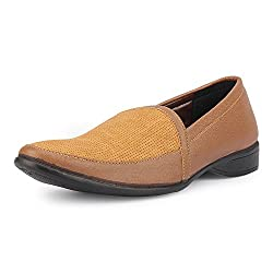 Quarks Mens Tan Synthetic Slip On Casual Shoes Q1098TN-9