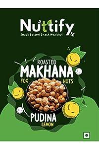 Nuttify Pudina Lemon Makhana Pack of 10 (15 GMS Each)