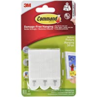 Command 17201-4pk Medium Picture Hanging Strips, 4 pairs (4x2) - White