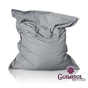 Corasol Outdoor Sitzsack Loungebag M 130x110cm grau