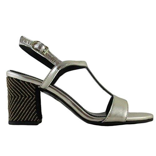 APEPAZZA PANDORA METAL PAL11,scarpe donna, sandali, pelle,oro,perline (41)