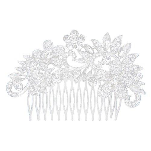 Diamantes De Imitación De Cristal Diamante Flor Broche Para El Cabell